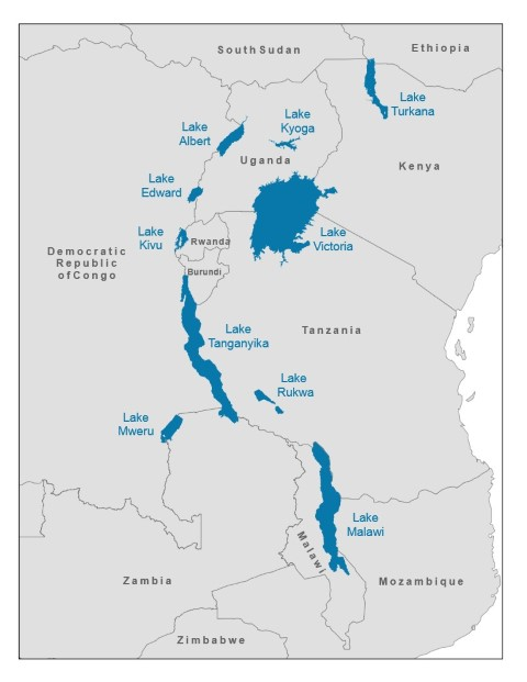 African Great Lakes - lakes in african rift