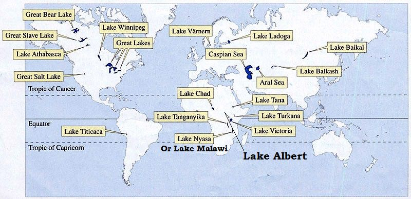 Major Lakes of the World