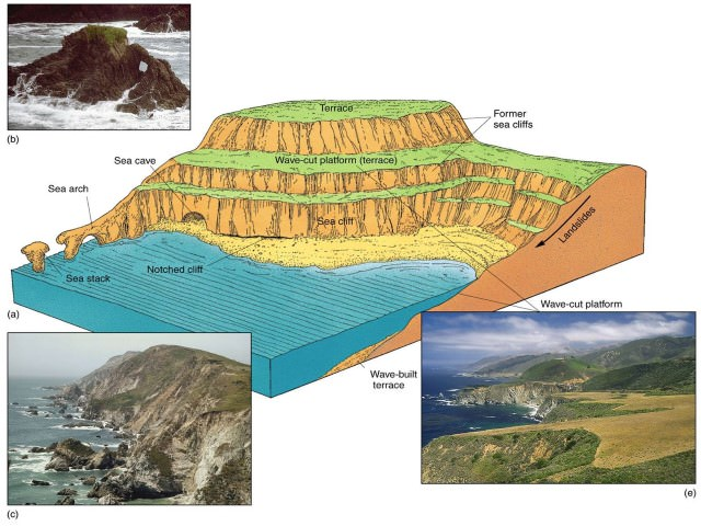 Marine Landforms And Cycle Of Erosion  Coastlines  Pmf Ias