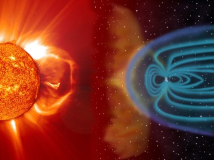 Solar Wind - earth's magnetosphere