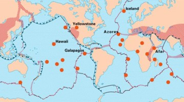 distribution of hotspot volcanism