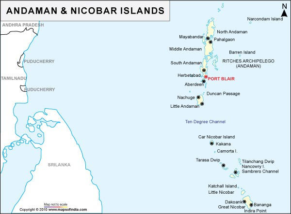 Andaman and Nicobar islands - ten degree channel