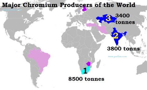 Chromite Ore Distribution Across the World