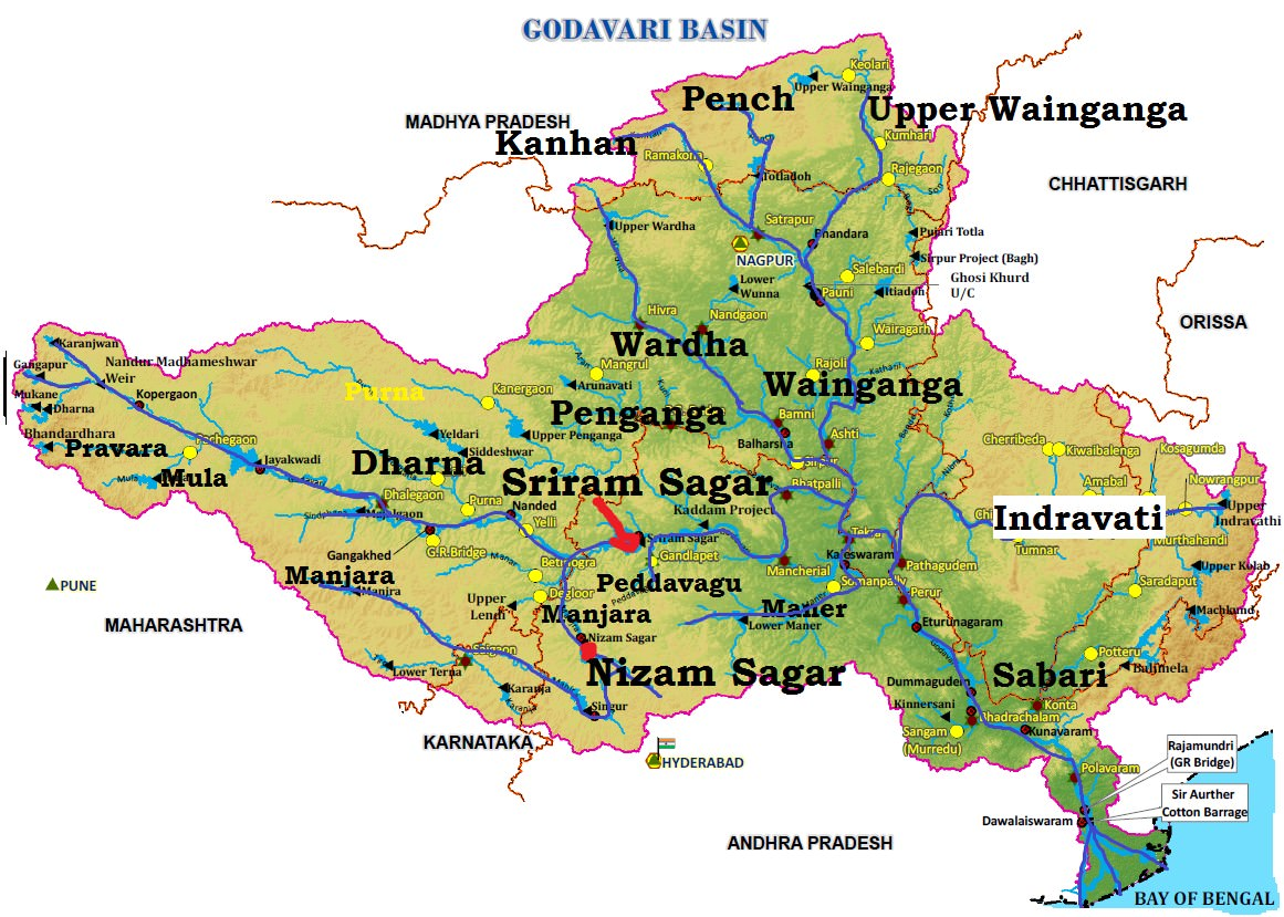 East Flowing Peninsular Rivers: Godavari, Krishna ...
