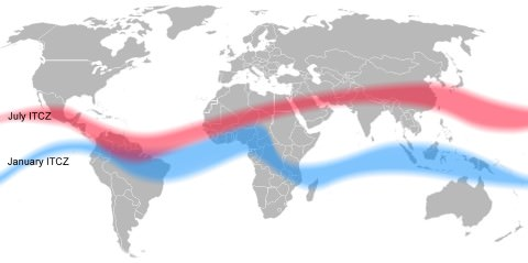 ITCZ summer - winter