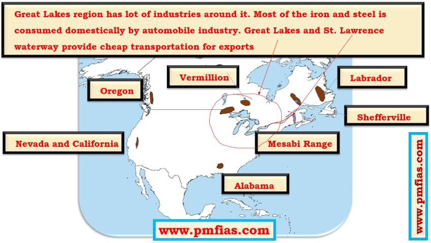 Iron Ore in North America – Great Lakes [Mesabi Region], Labrador