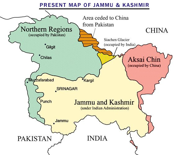 Jammu and Kashmir - pakistan and china occupied territories