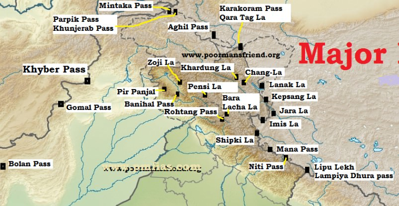 Major Mountain Passes in India & Himalayas | PMF IAS