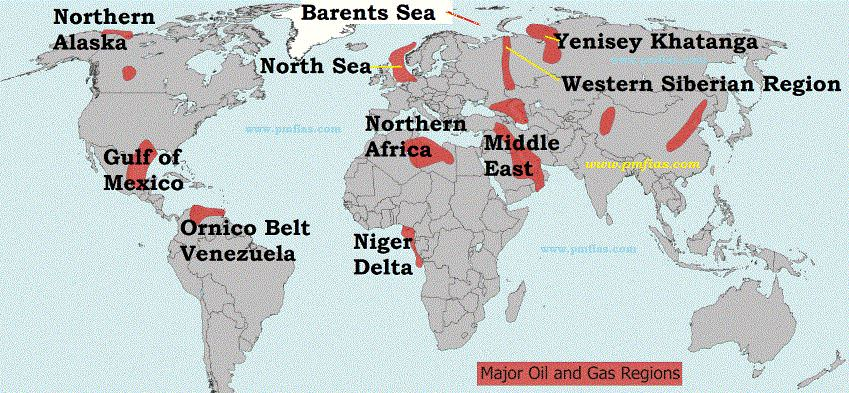 Petroleum and Mineral Oil - World distribution