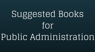 Suggested Books for Public Administration UPSC CSE