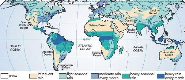 World Distribution of Rainfall