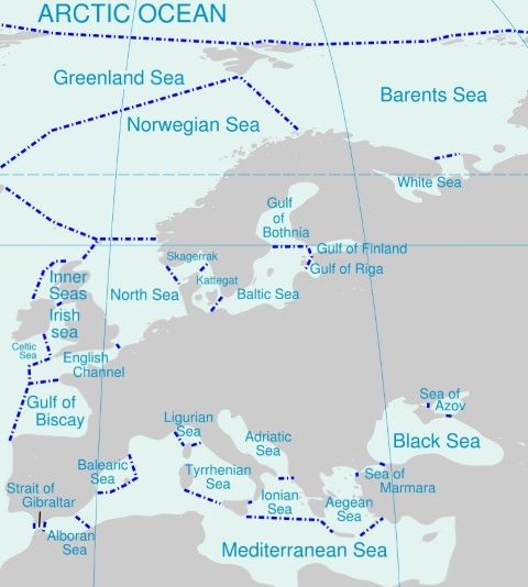 Marginal seas of the world bay gulf strait isthmus pmf ias seas of europe mediterranean gumiabroncs Choice Image