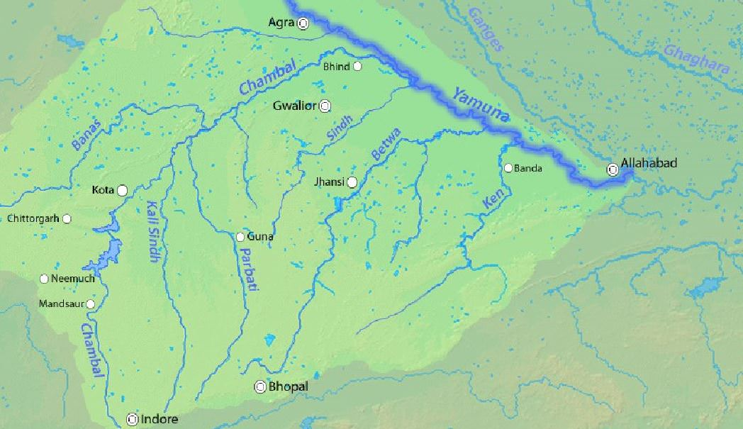 yamuna river tributaries-son-ken-betwa-banas