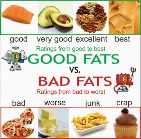 Healthy Fats - Unhealthy Fats