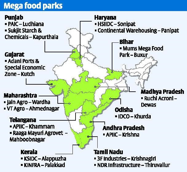 mega food park guidelines The ambitious mega food park scheme of the centre is stumbling with   recommendations to redesign its guidelines and increase flexibility.