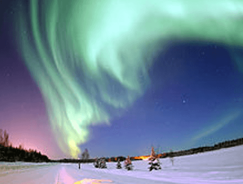 Effects of solar wind – Aurora