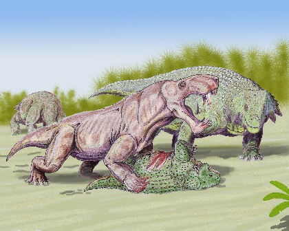 Scutosaurus and gorgonopsids