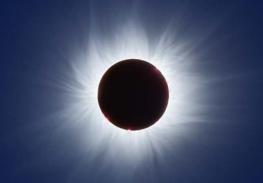 Sun's Corona visible during Total Solar Eclipse